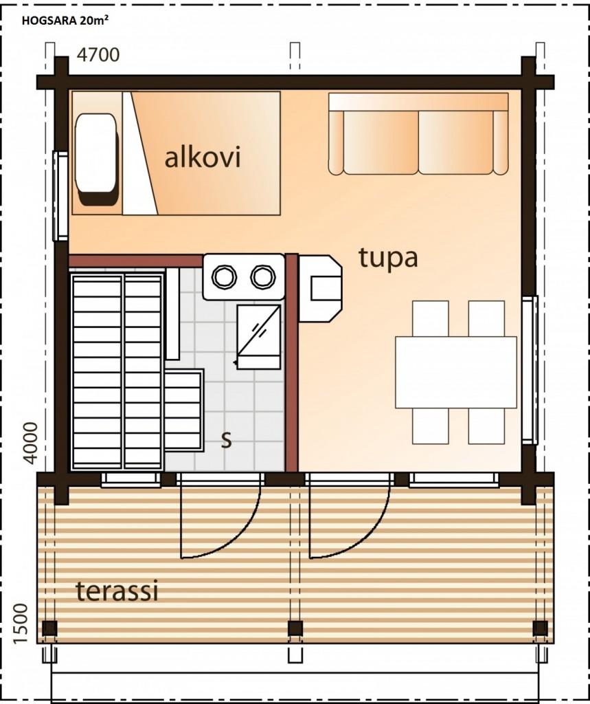 Hogsara 20 25 et 30m bois et sauna - Plan sauna finlandais ...