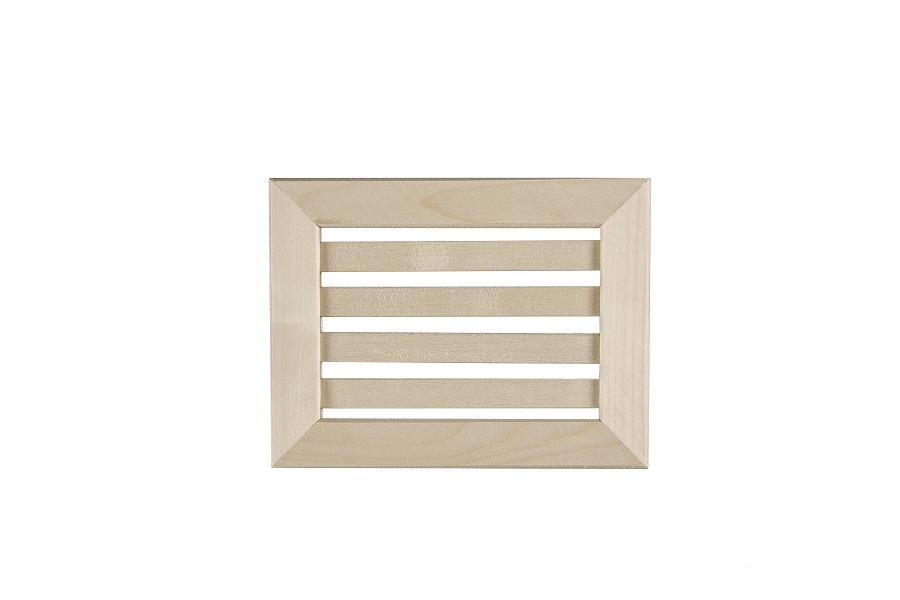 Grille et trappe d a ration en tremble bois et sauna for Grille aeration fenetre bois