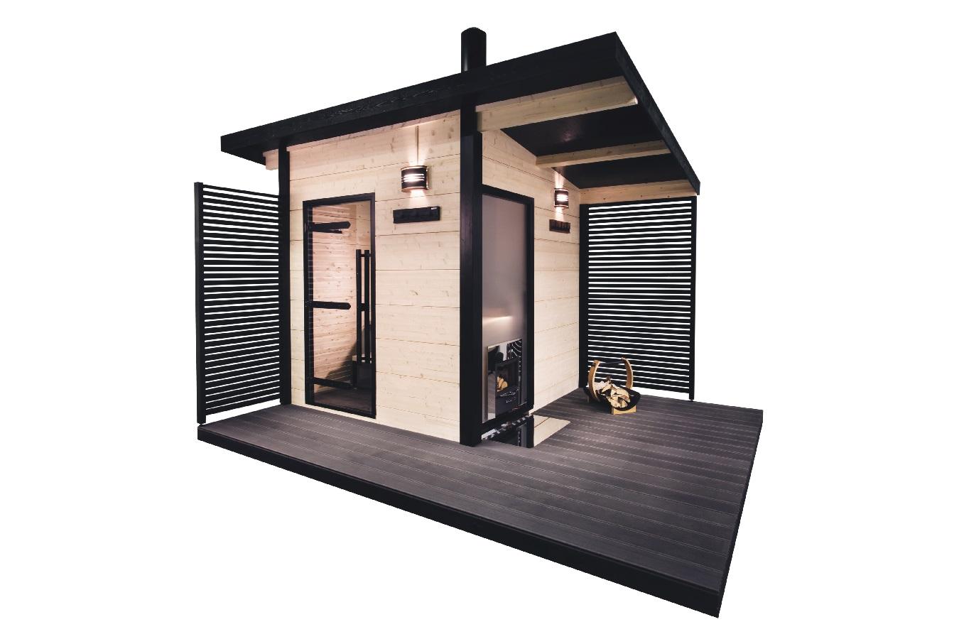 Sauna D Extérieur le sauna d'extérieur harvia « solide »   bois et sauna