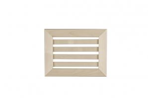 grille et trappe d a ration en tremble bois et sauna. Black Bedroom Furniture Sets. Home Design Ideas